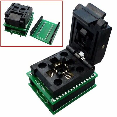 TQFP32 QFP32 TO DIP32/28 IC Programmer Adapter Chip Test Socket Tool 0.8mm Pitch