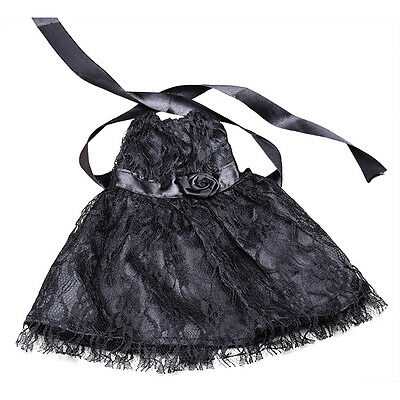 1x Fashion Handmade Black Lace Dress Clothes for 18inch Doll Party AU_f