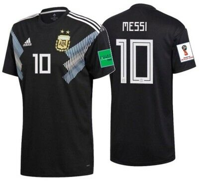 2cf021ba8 ADIDAS LIONEL MESSI Argentina Away Jersey World Cup 2018 Patches ...