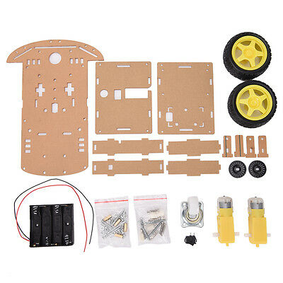 New Motor Smart Robot Car Speed Encoder Battery Box 2WD For Robot DIY Kit、-UK