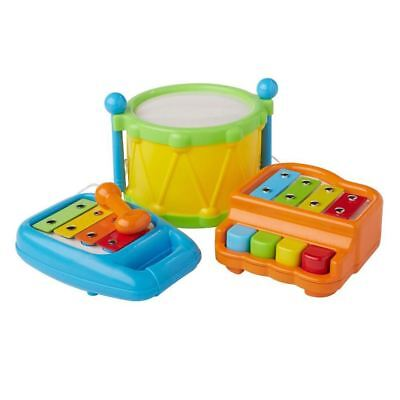 My First Big Band 3 in 1 Baby Toy Instrument Musical Set Drums Xylophone Piano