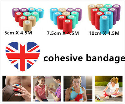 Waterproof Vet Horse Self-Adhesive Cohesive Wrap Bandage Rap Tape Elastic Stick