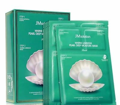 [ JM solution ] Marine Luminous Pearl Deep Moisture Masks 10sheets Made in Korea