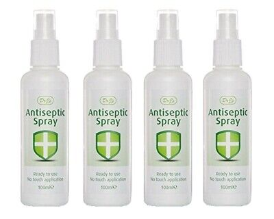 4x Dr J's Johnson Antiseptic Spray Ready To Use No Touch Application 100ml