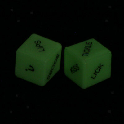 4 pcs Set Nouveauté Glow Dice pour Adult Party Game Jouets Filles Night Out