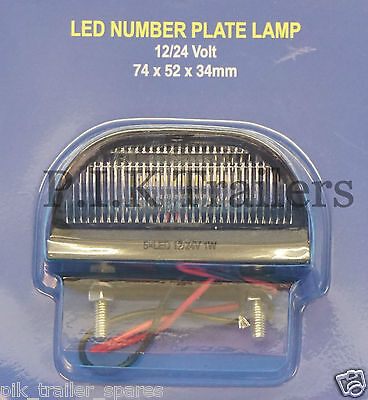 LED Number Plate Licence Lamp 12v-24v Trailers Caravans         #15025