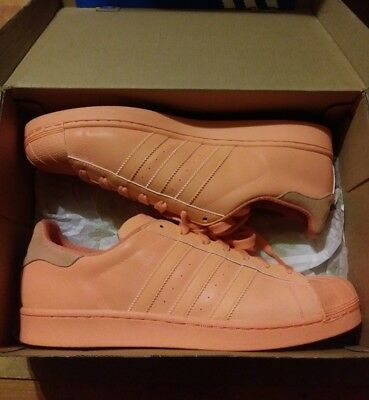 60928150d6f7 Men s Adidas Originals Superstar Adicolor Sun Glow Orange S80330 Size 11.5  Shoe