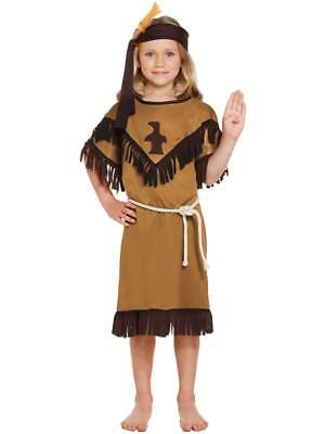 Girls Native American Indian Squaw New Fancy Dress Costume Childs Kids Book Week