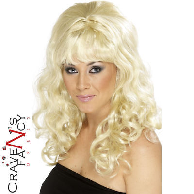 Blonde 60s Groovy Beehive Wig Adult Womens Fancy Dress Costume Accessory New