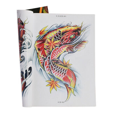 MagiDeal A4 Coloré Esquisse Flash Livre Tatouage Corps Art 80 Pages