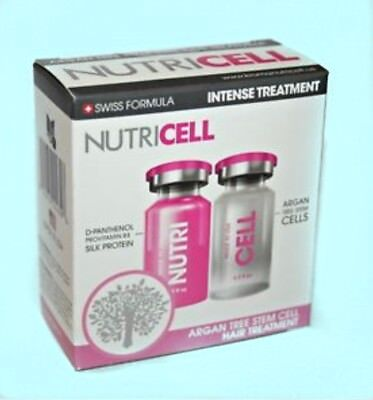 3-SETS=NUTRICELL ARGAN TREE STEM CELL HAIR INTENSE TREATMENT .5oz =3 treatments