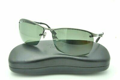 dd7ab240783 RAY BAN RB 3550 Sunglasses 029 9A Matte Gunmetal   Green Polarized Lenses  64mm