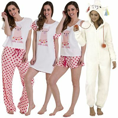 Llama All In One Nightshirt Ladies Girls Novelty Pyjamas Make A Gift Set