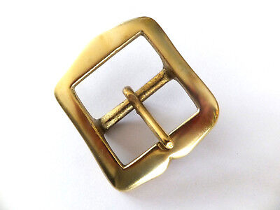 "1-1/4"" [32 mm]  FULL SOLID BRASS [ RE ENACTMENT ] Belt Buckle  Leather craft"