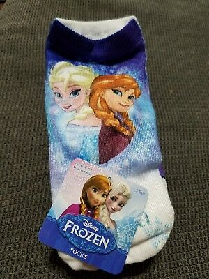 Girls Frozen Socks 5 Pair Size 7-9