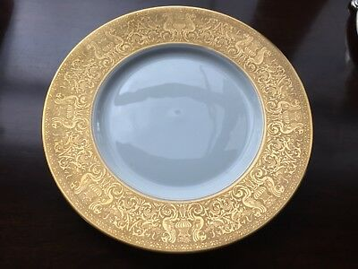 vintage HEINRICH H & CO SELB BAVARIA GOLD DINNER PLATE  with Griffons