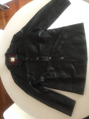 Vintage Diesel Black Leather Jacket Size Large-Men's