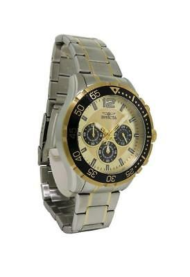 Invicta Specialty 16288 Men's Round Gold Tone Chronograph Analog Watch