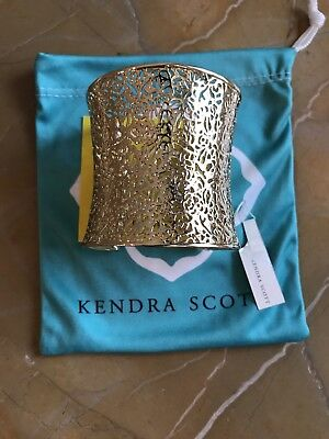 906443669d74e Kendra Scott Candice Gold Cuff Bracelet In Gold Filigree
