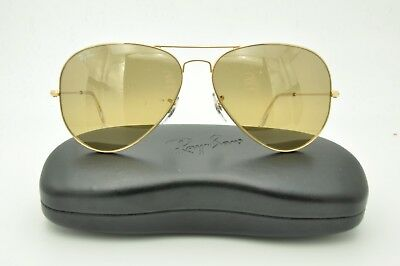 89065175b6a5 Ray Ban RB 3025 Aviator Sunglasses 001/3E Gold / Brown Mirrored Lenses 62mm