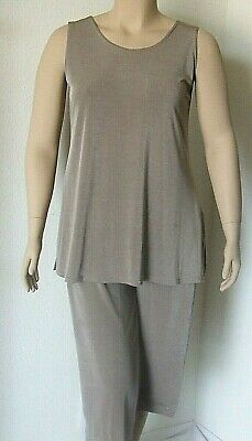 NEW stretchy no-iron poly//span #BF Travel Knit Capri Set Tunic A-Line Tank