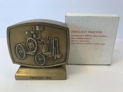 Vtg JOHN DEERE Employees Credit Union Bank Froelich 1892 1981 4th Edition w/ Box