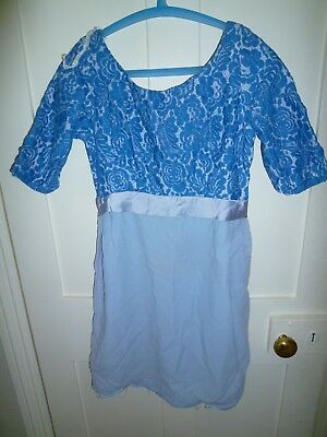 Beautiful vintage blue 1950's 1960's dress Goodwood Revival UK 8-10