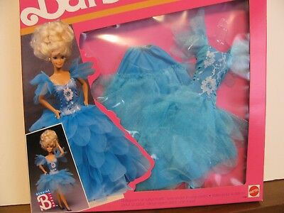 Dance Magic Barbie Fashion. Blue ballgown, NRFB, 1989