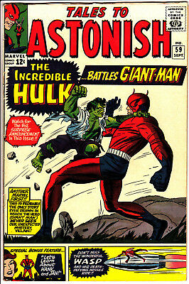 Tales to Astonish # 59 (1964 Marvel)  FN  1st Hulk in series, GIANT MAN WASP ANT