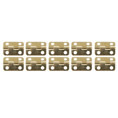 10Pc 16x12MM Metal Rotation Cabinet Drawer Door Lift Off Butt Hinge Hardware