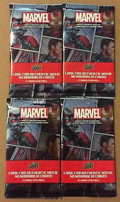 2017 Upper Deck Marvel Cinematic Universe Commemorative Trading Cards x4 Packs!