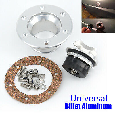 Billet Aircraft Style Fuel Cell Gas Cap 6-Hole Anodized Flush Mount