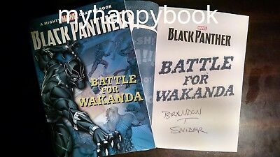 SIGNED Black Panther The Battle for Wakanda (Mighty Marvel) by Brandon Snider
