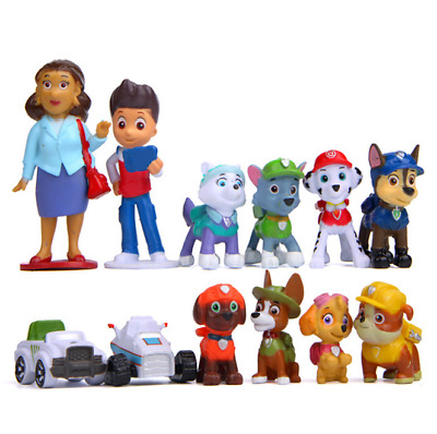 Latest Paw Patrol 12 PCS Set Cake Toppers  Action Figures Puppy Patrol Dog Toys