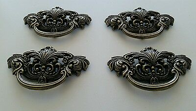 4 Matching Vintage Look Cast Metal Drawer Pulls Handles 3 Inch Center To Center