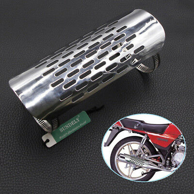 Hot Motorcycle Silver Exhaust Muffler Pipe Heat Shield Cover For Harley Cruiser