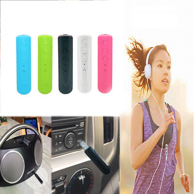 Hot 4.1 Bluetooth Handsfree Wireless Car Receiver 3.5mm AUX Music Stereo Adapter