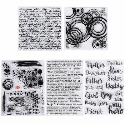 English Words Transparent Silicone Stamps/Seal for DIY Scrapbooking Photo Decor