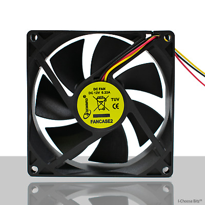 Gembird PC Silent Case Fan / Quiet Computer Cooling Fan / DC 12V 2 pin 3 pin