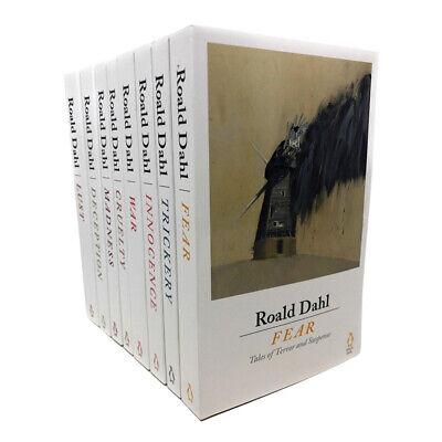 Roald Dahl 8 Books Set Collection Lust, Innocence, Madness, Trickery,Tales Of...
