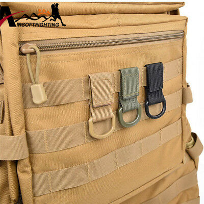 Tactical Nylon Molle Webbing Belt D-Ring Carabiner Buckle For Outdoor Camping