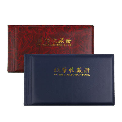2pcs Banknote Currency Collection Album Paper Money Pocket -30 Note Pages