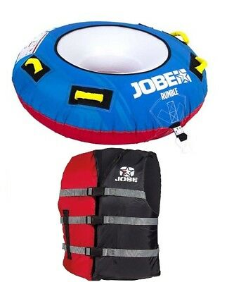 Jobe Inflatable Rumble Towable 1 Person & Impacted Jacket