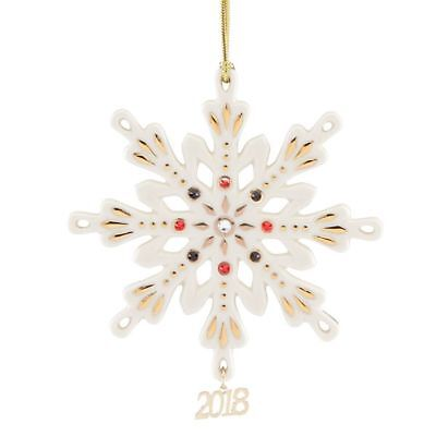 2018 Annual Gemmed Snowflake Ornament by Lenox ~ NIB