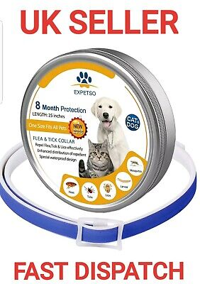EFFECTIVE Dog & Cat Flea and tick collar 8 Months Control protection prevention