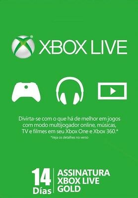 Xbox Live Trial Gold SUBSCRIPCIÓN 14 Días Days para Xbox ONE 360 ESPAÑA
