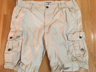 5ef9b36db9 EXPRESS MENS SIZE 36 Cargo Shorts Khaki Tan Beige MINT!!! - $13.98 ...