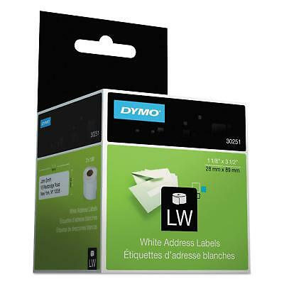 Dymo 30251 White Address Labels 1-1/8 x 3-1/2 130 Labels/Roll 2 Rolls/Box