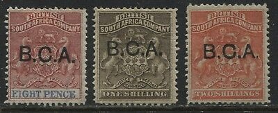 British Central Africa 1891 8d to 2/ mint o.g.