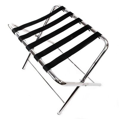 60*42*50cm Portable Stainless Steel Luggage Rack Suitcase Stand Bag Holder Strip